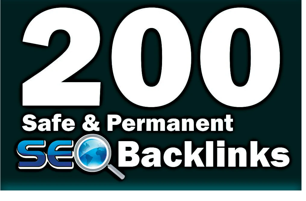 200 safe and permanent manual seo backlinks, link building