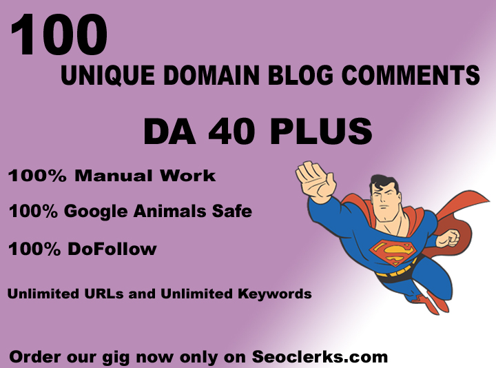 I will do 100 unique high authority backlinks on DA40plus sites