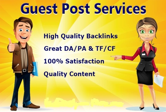 I will publish your 25 guest post on high da pa backlinks rank your site