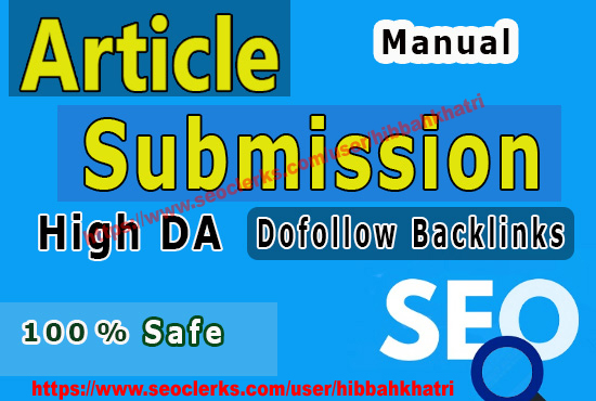 I will Submit web 2.0 high quality 20 Article Submission Website