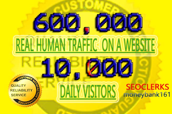 10,000 daily human visitors for 60 days any website