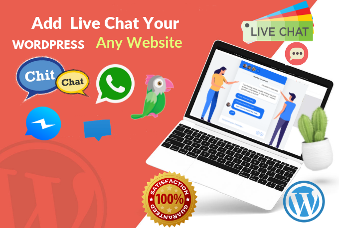 Install And Setup Live Chat To Any Wordpress WebSite In 1 Hours
