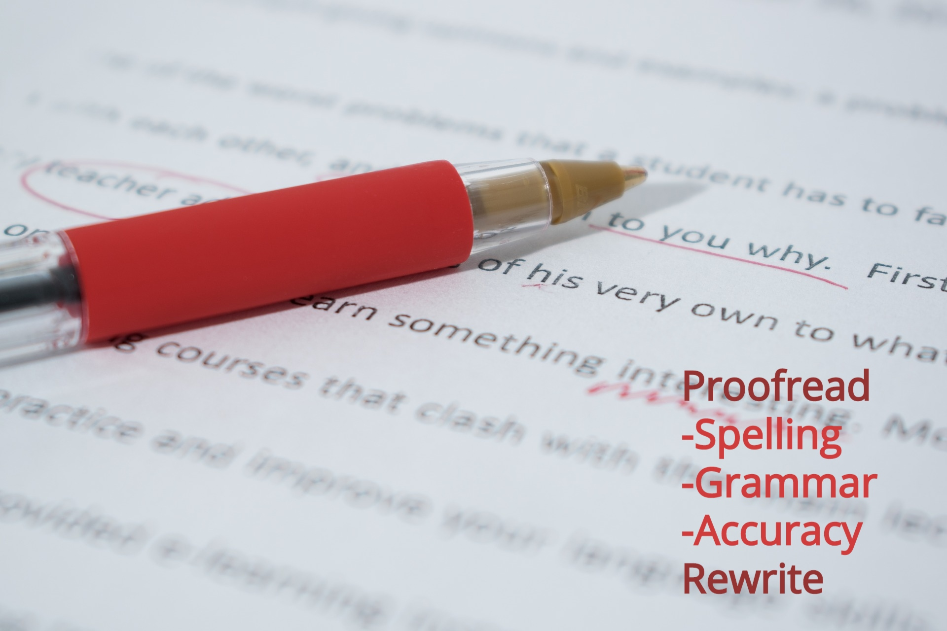 Proofread,  Edit and Rewrite 700-Word Content In Any Platform