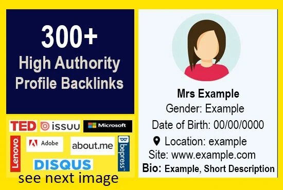 I will create manually 300 trustable profile backlinks for offpage SEO
