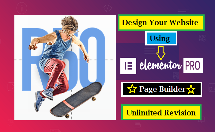 Create a responsive wordpress website using elementor pro