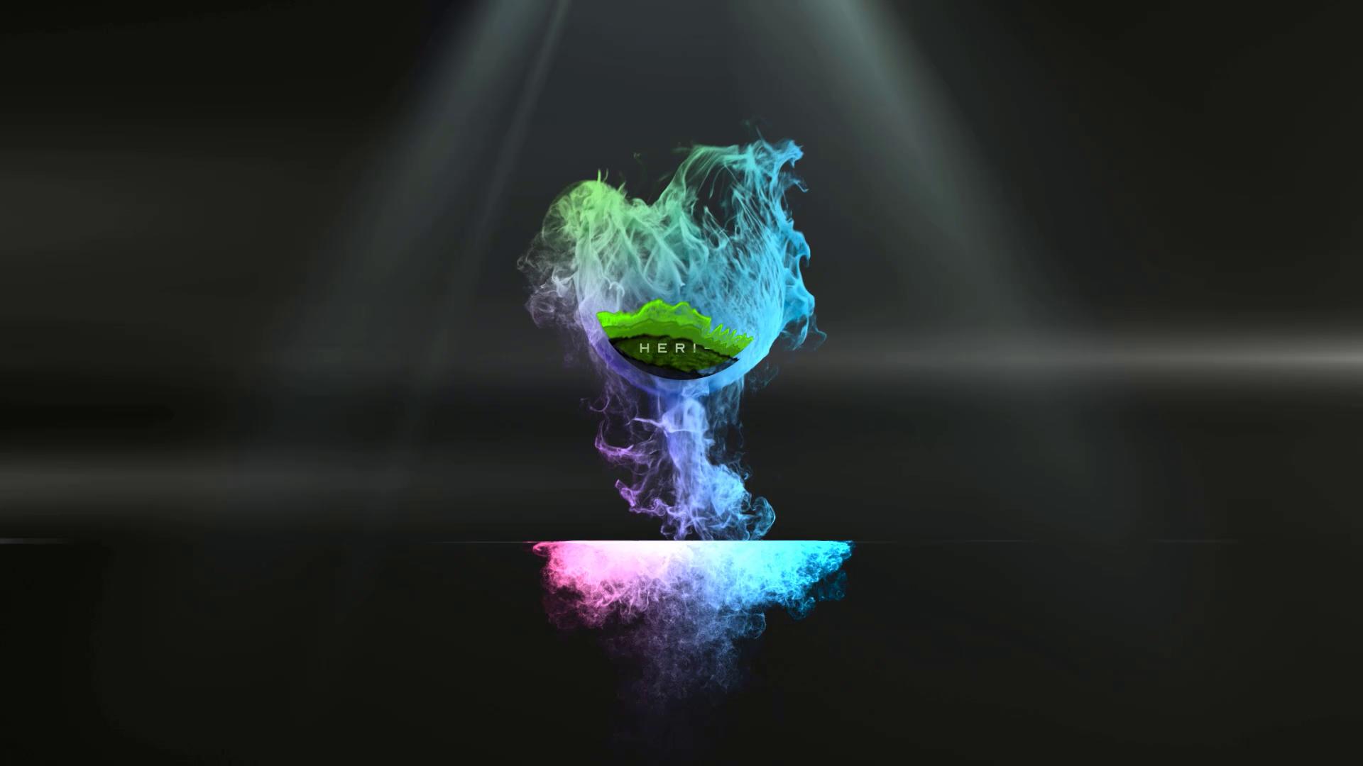I will create an eye catching smoke logo intro video animation