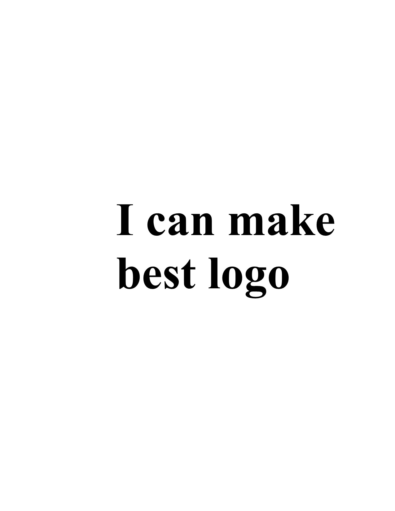 I can create great logo in short time