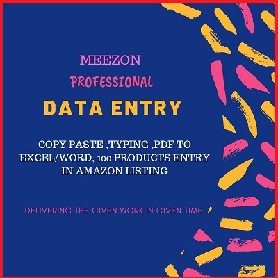 At Meezon,  We are Dedaicated To Provide The Best Data Entry Services and Lisitng of your catalogue