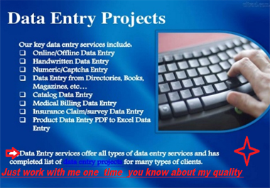 Data entry and Copy Paste Typing Work Within 24 hours For 2