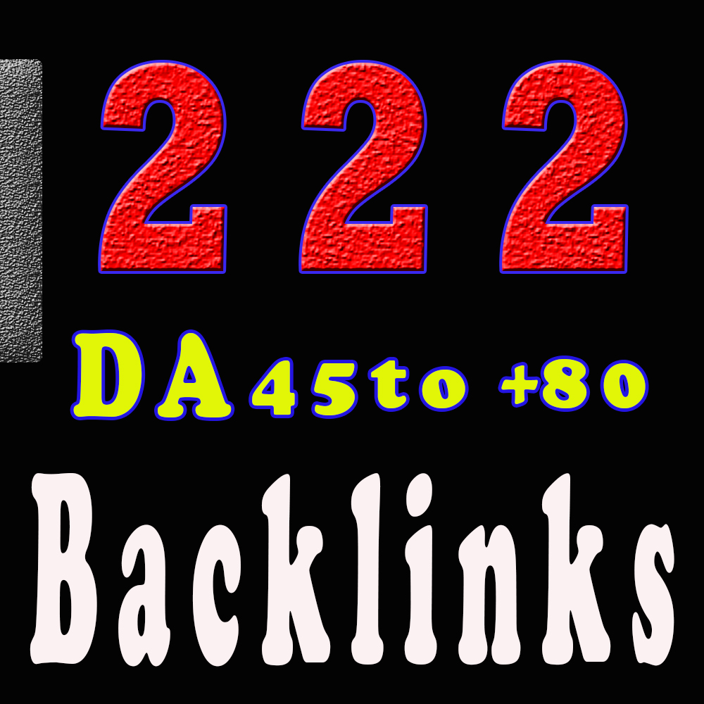 Create manual permanent SEO 222 backlinks from high DA 80+ sites to get google ranking