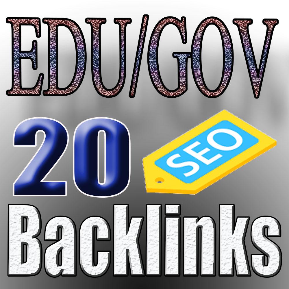 I will do 20 HQ permanent backlinks DA60 to 95, edu links