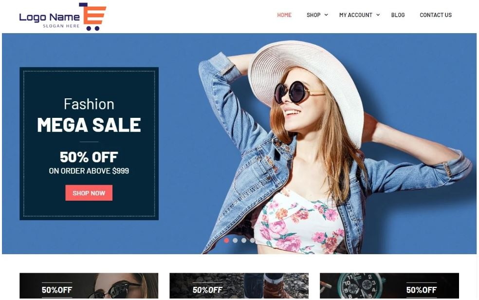Create a responsive ecommerce wordpress website
