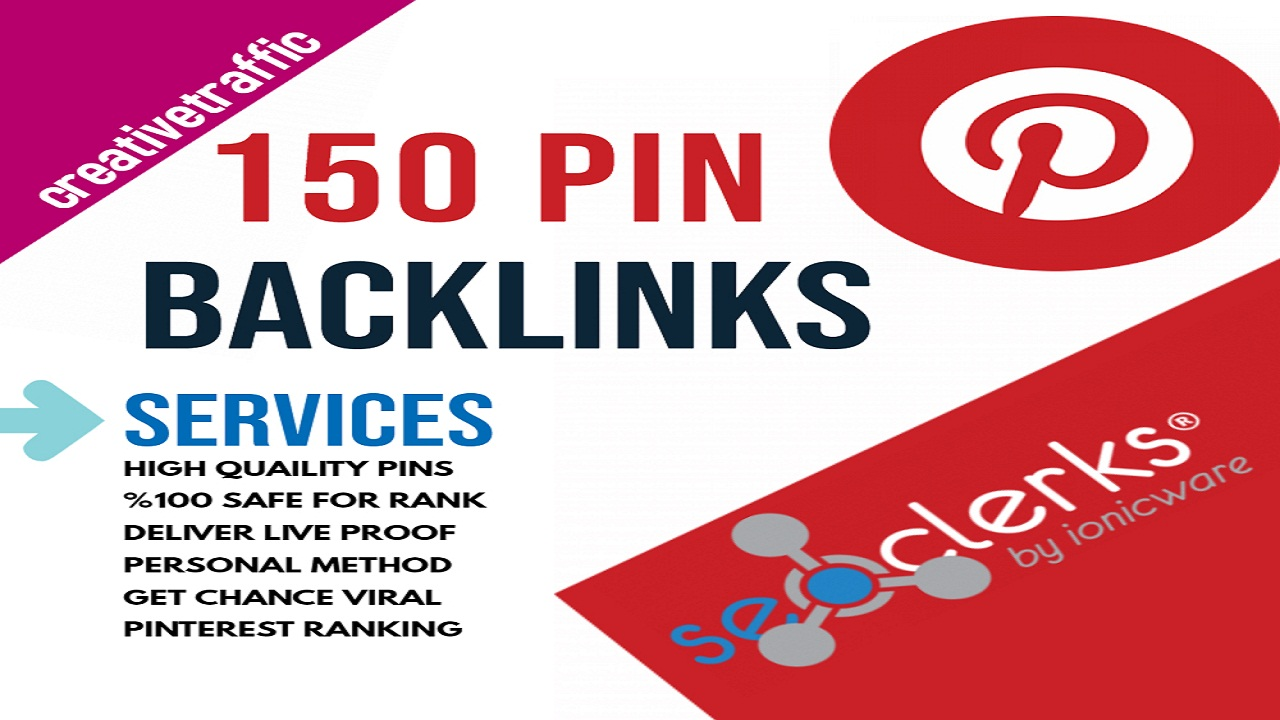 High-Quality 150 Pinterest Pin Backlinks 200 Facebook Social Signals