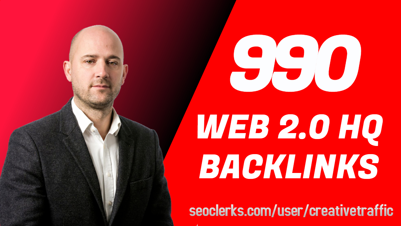 Web 2.0 High Quality Backlinks For Your site ranking With Reports