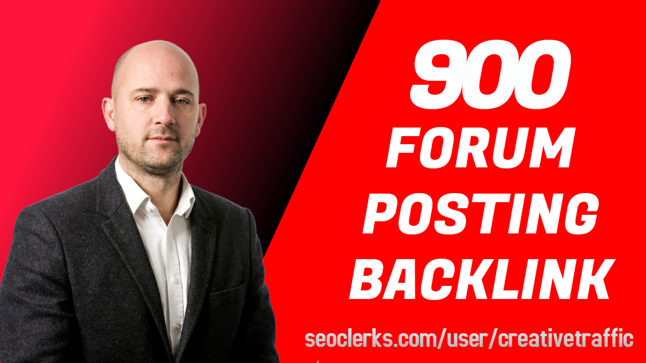 High Quality Forum Positing Backlinks For RAnking with report