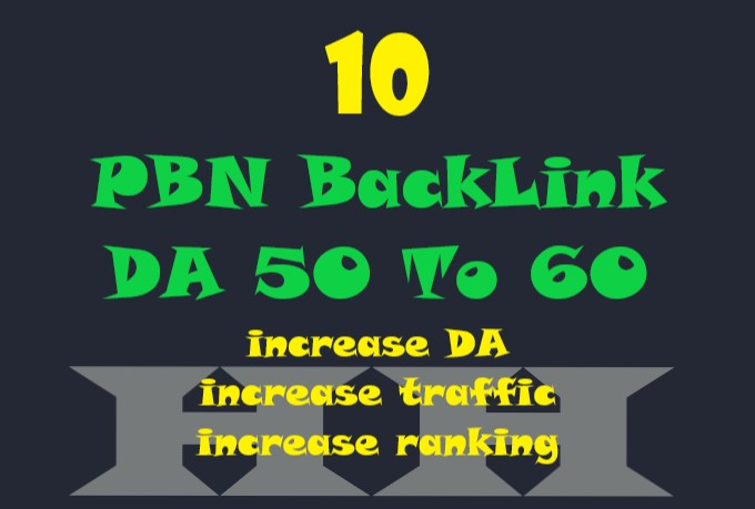 I will 10 PBN Backlinks DA 50 to 60
