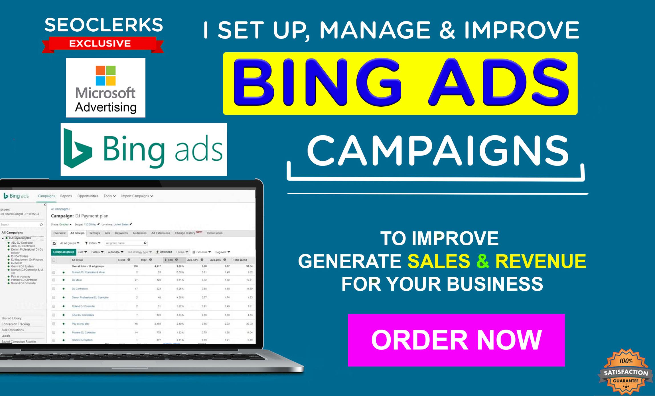 I will setup and manage your bing ads PPC campaign