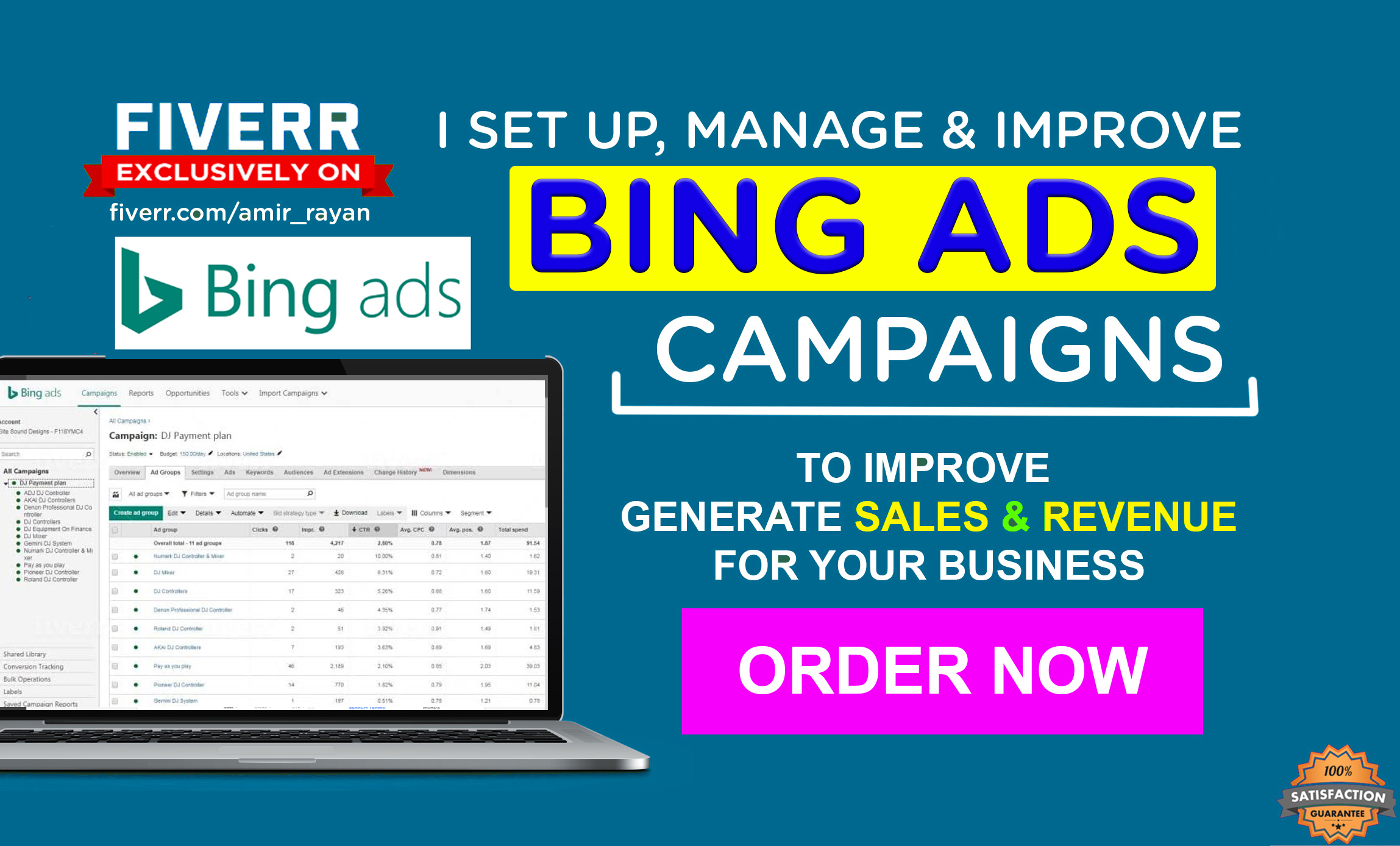 I will Setup,  Manage & Optimize Bing Ads or Microsoft Advertising Campaign