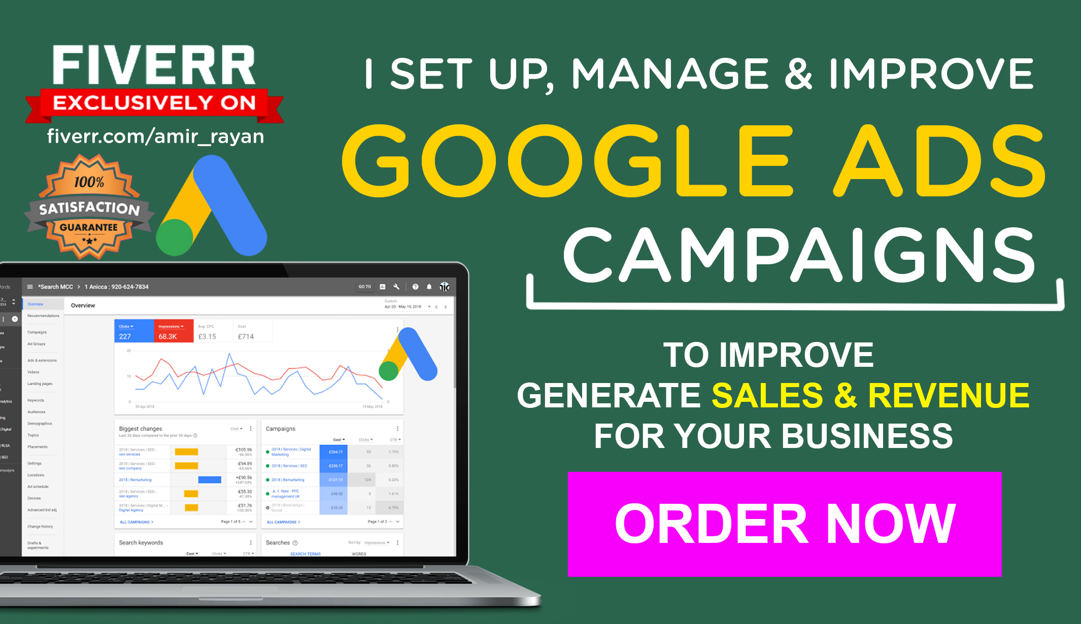I will Setup,  Manage & Optimize Google Ads Campaign