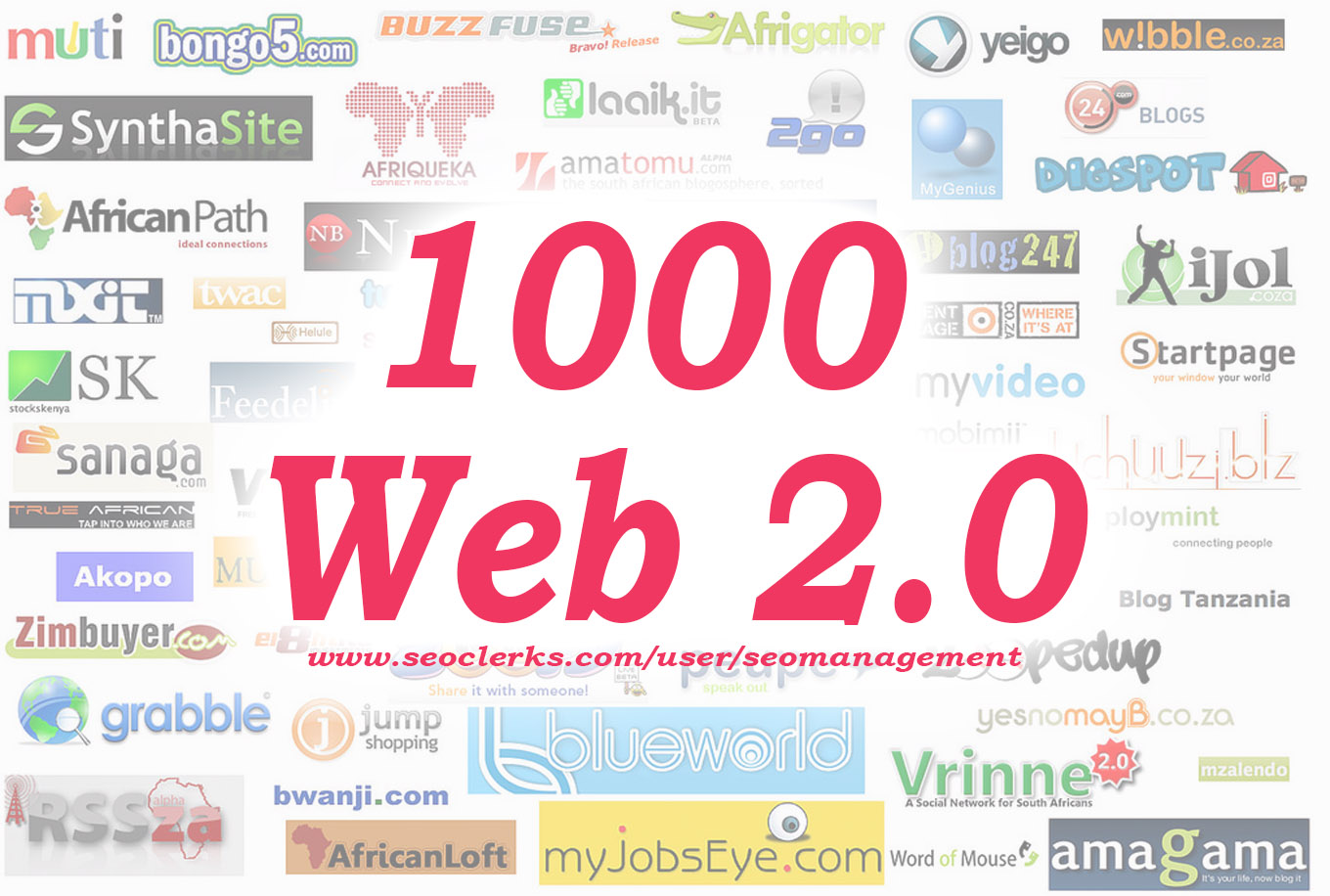 Provide 1000 Web 2.0 Backlinks with mixed do follow and no follow types