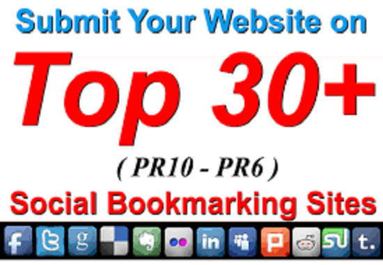 Provide 30 High PA,  DA Social Bookmarking Backlinks best for Your SEO