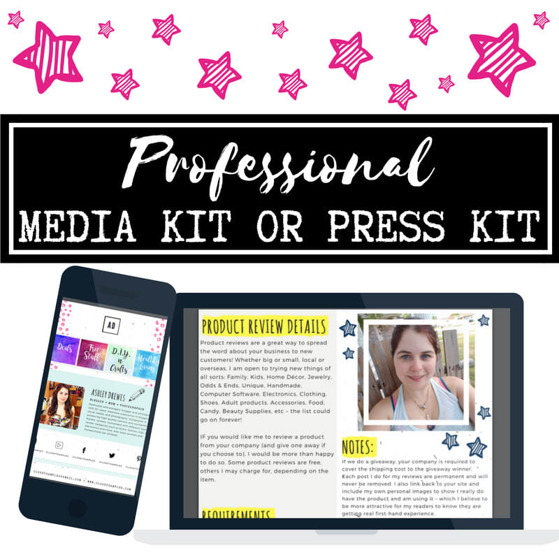 I Will Design Professional Media Kit,  Press Kit,  Or Blogger Kit