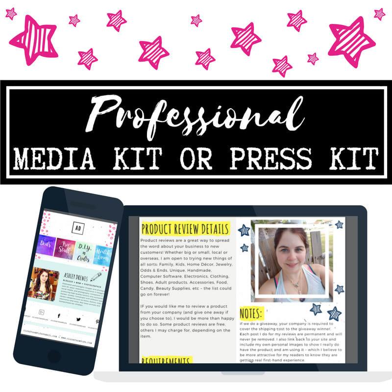 I Will Design Professional Media Kit,  Press Kit,  Or Blogger Kit