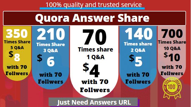 Buy 70 Quora UpVotes Get free 70 followers