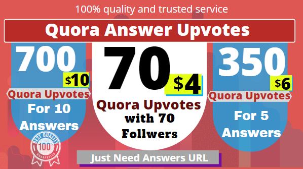 Buy 70 Quora UpVotes Get free 70 followers