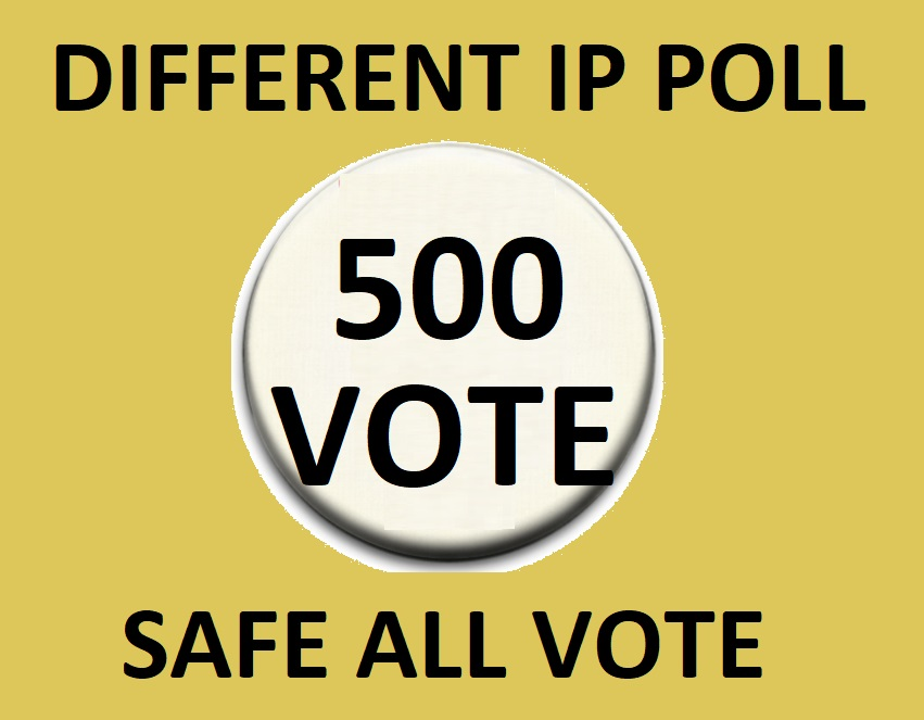 Happy buy 500 Different Ip Votes From Unique Ip Address