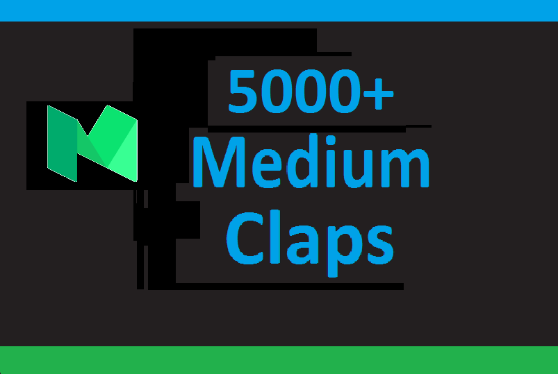 5000+ Medium claps are from worldwide accounts and different ip addresses
