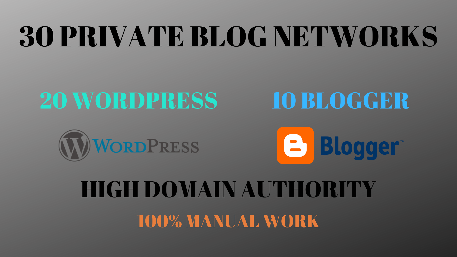20 Wordpress and 10 Blogger Total 30 HIGH DA - PBN HOMEPAGE Posts
