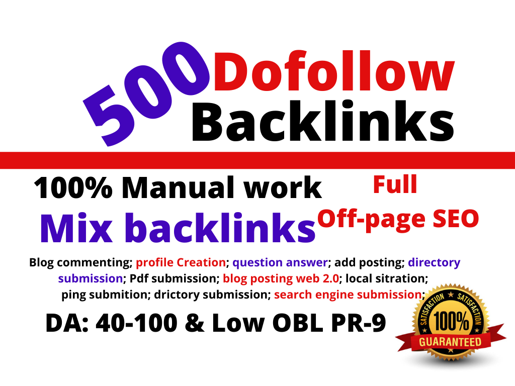 I will do full Off-page SEO service Weakly seo service monthly seo service