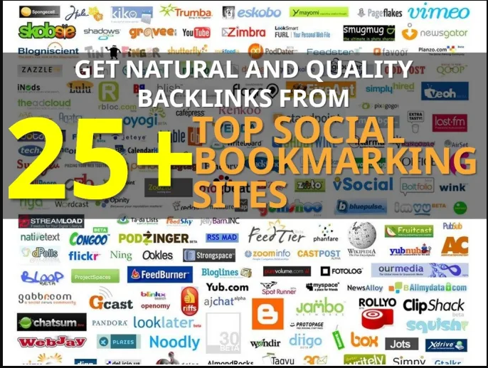 Provide 25 Social Bookmarking Links from High PR and High DA Websites