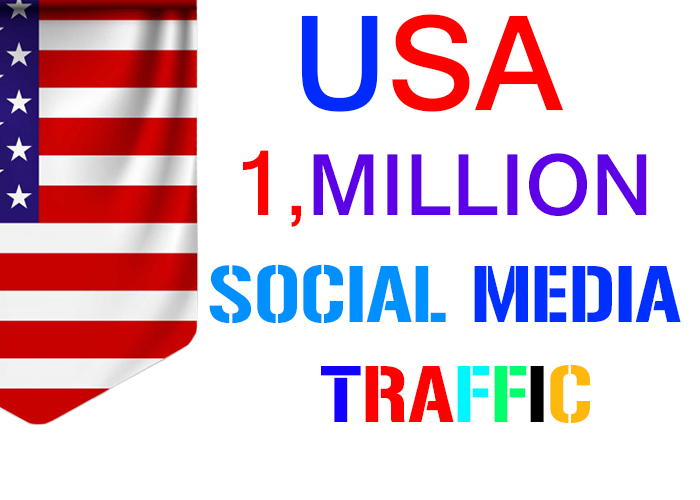 send 1, million USA target social media real traffic 2 month