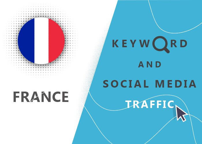Send France Organic Keyword And Social Media Traffic