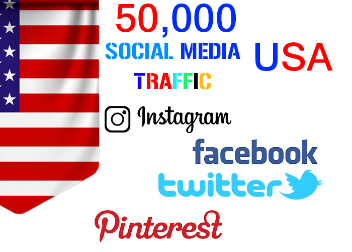 send 50,000 USA target social media real traffic