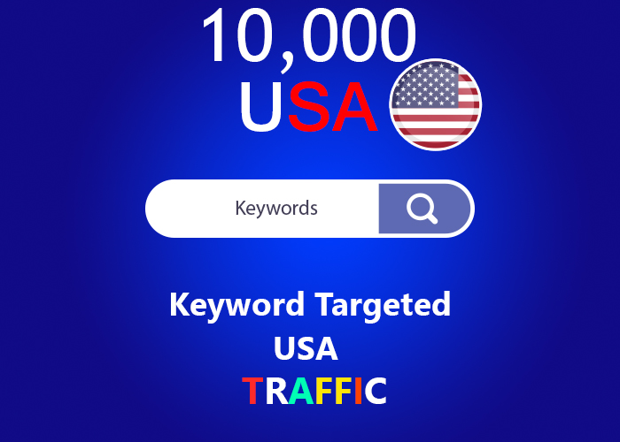 send 10,000 keyword targeted USA real traffic