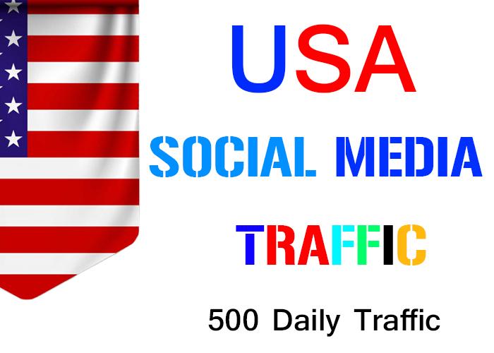 send 500 daily USA social media real traffic
