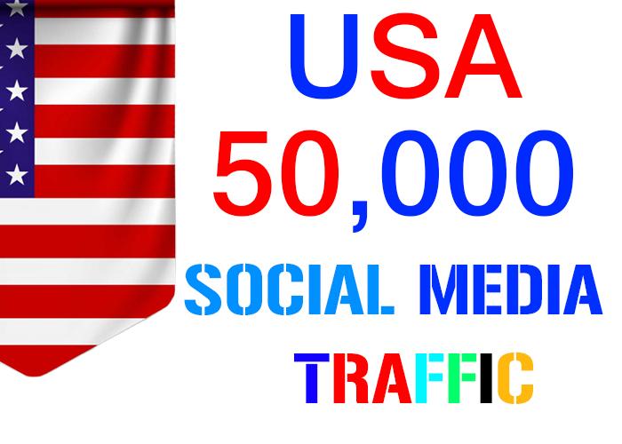 send 50,000 USA target social media real traffic