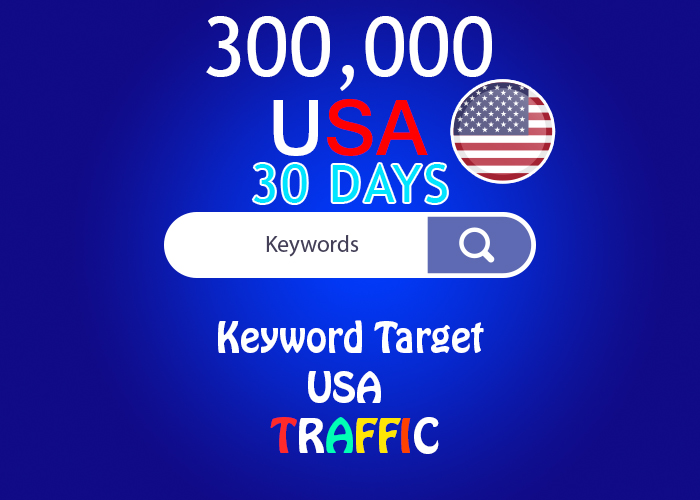 send 300,000 keyword target USA real traffic for 30 days