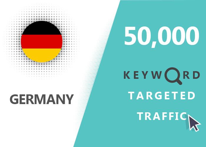 send 50,000 keyword targeted Germany real traffic