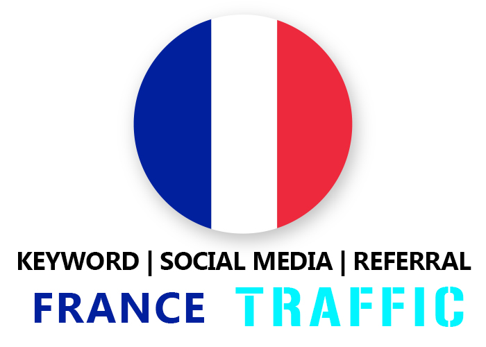 Send France Organic Keyword,  Social Media,  Referral Traffic