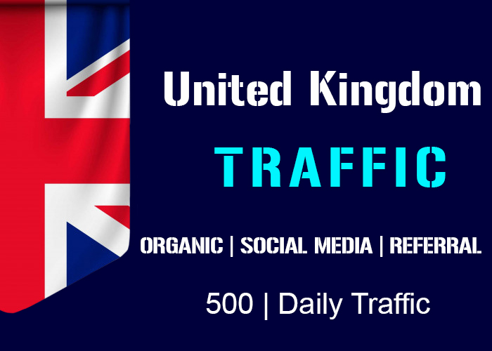 send 500 Daily Uk Organic, Social Media, Referral Real Traffic