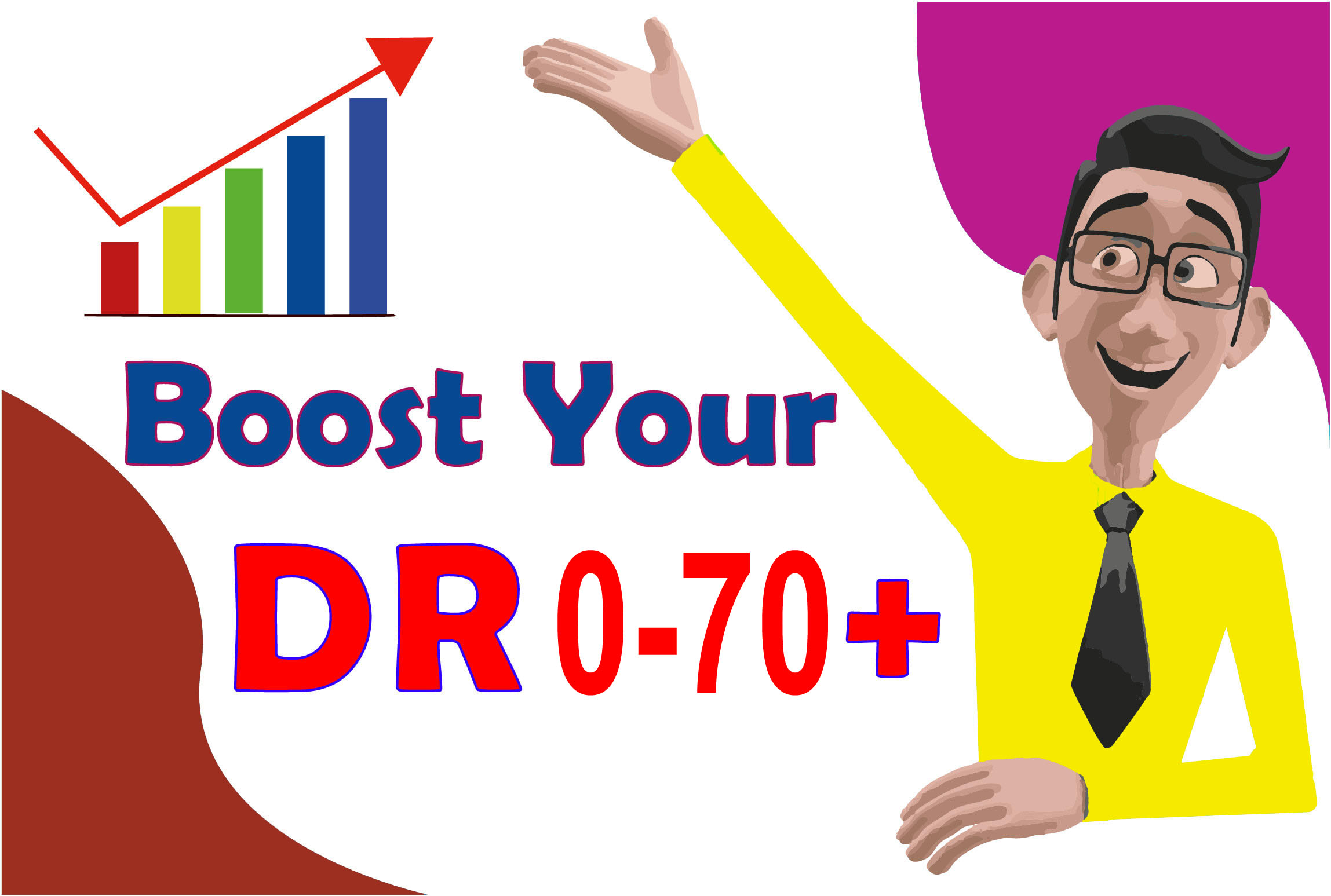 I will increase domain rating ahrefs DR 0 to 70+ guaranteed