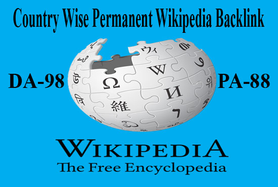 I Will Provide Country Wise High DA PA Permanent Niche Relevant Wikipedia Reference Backlink