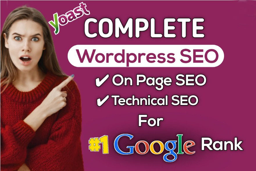 I will do complete yoast on page SEO,  technical SEO optimization for wordpress site google top rank