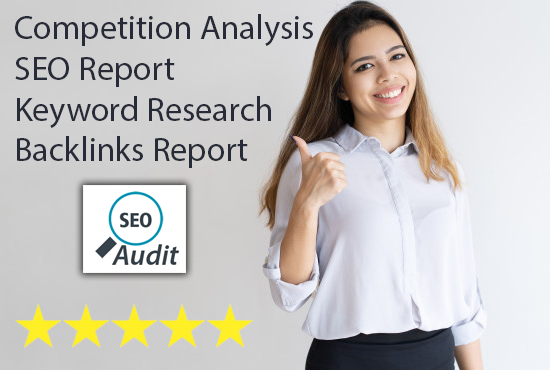 Full SEO Report with backlinks and Competition analysis