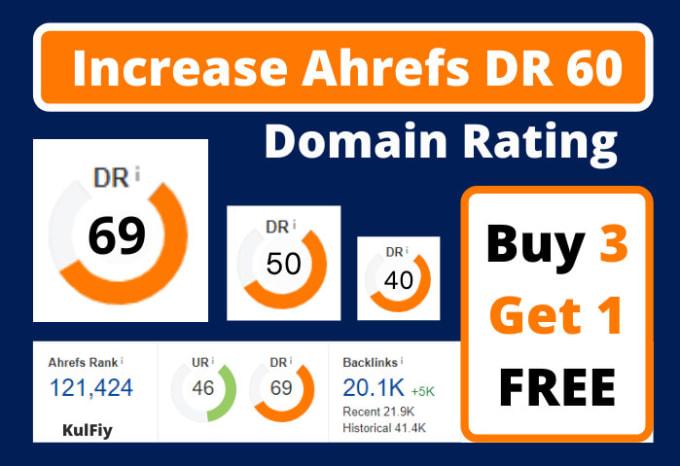 increase domain rating DR ahrefs 60 by SEO dofollow backlinks casino poker gambling website