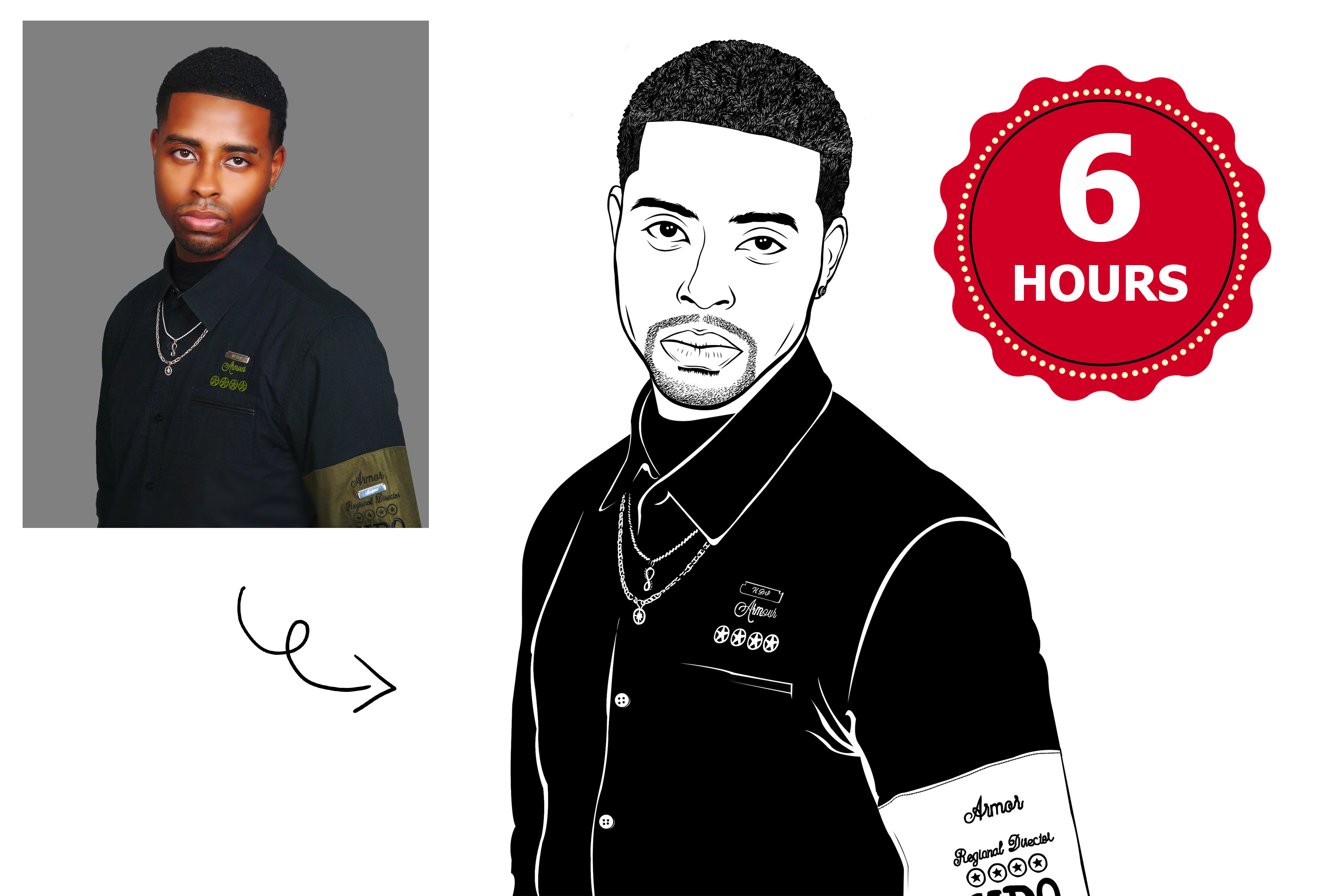 Draw Line Art Illustration Of Your Photo